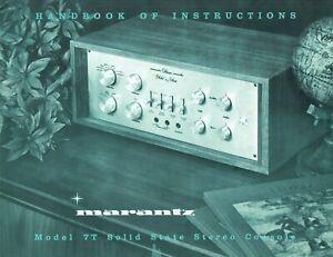 Lot of Marantz 7T Preamp and 15 Amp Manuals