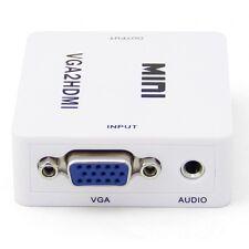 Mini VGA Audio PC HDTV To HDMI Composite LCD 1080p HD Video Converter Adapter