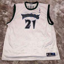 2000's Official REEBOK NBA Minnesota TIMBERWOLVES Kevin Garnett #21 Jersey 3XL