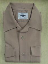 USN NEW KHAKI MEN SHIRT SIZE SMALL - CNT CLOTH (100% POLYESTER)