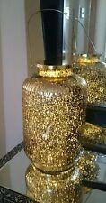 VETRO BRONZO ORO Marocchino Lanterna Luci mercurio o CANDELA Matrimonio da appendere