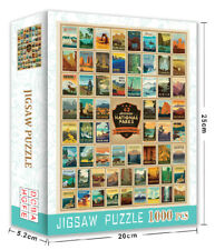 Jigsaw Puzzles 1000 Pieces 62 National Parks Learning Toy Game for Adults Gift
