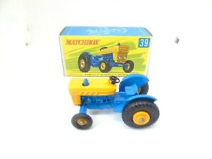 Matchbox 39c Ford Tractor in RARE type G Superfast style box Printed by Bowater