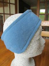 Fleecy ski headband/ear warmers with stretch back - mid blue