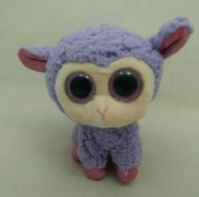 "Lavender Lamb Beanie Boos Big Purple Eyes Pink Feet Ears Ty Plush 5"" Toy 2016"