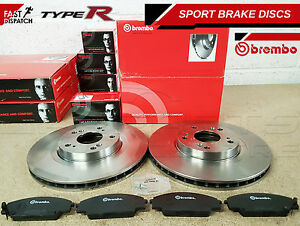 FOR HONDA CIVIC 2.0 TYPE R EP3 JDM FRONT BREMBO BRAKE DISC DISCS PADS 2001-2005
