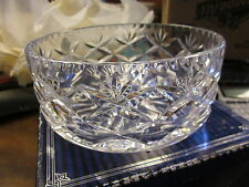 "Royal Doulton by Webb Corbett crystal bowl 6"" new old stock box has ware"