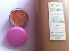 genuine 5ml sample pot creme de la mer  the fluid foundation sunset bronze  08