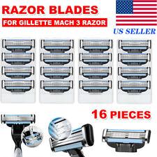 16Pcs Replacments for Gillette MACH 3 Male Razor Blades Shaver Cartridges Refill