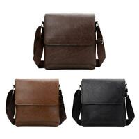 Casual Messenger Bag Men PU Leather Shoulder Flap Fashion Crossbody Bags WT7n