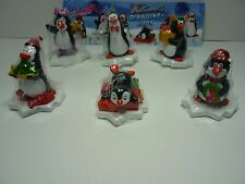 Meistermarken Weihnachts Pinguine-Hipps Satz Fremdfiguren mit 6 BPZ