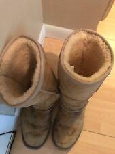 Ladies Ugg Boots Authentic Lamb Skin Worn Winter Warm Size 8