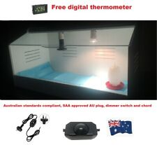 Brooder for Poultry/Reptile/Parrots with Heating Lamp 58 cm L x 40 cm D x40 cm H