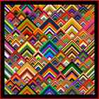 """PINNACLES - 75""""- Pre-cut Quilt Kit by Quilt-Addicts Double"""