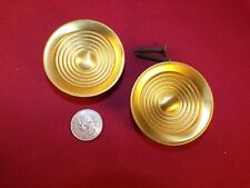 "Vintage 60s-70s Backplates for Cabinet Knobs 3 ¾"" Solid Polished Brass"