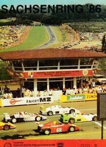 Programmheft Sachsenringrennen Hohenstein-Ernstthal 11.-13. Juli 1986