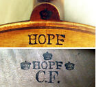 OLD GERMAN HOPF VIOLIN EARLY 1900 -video - ANTIQUE master バイオリン rare скрипка 381 for sale