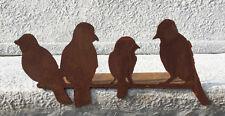 VOGELGRUPPE KANTENHOCKER 36cm Rost Edelrost Gartendekoration Vogel Vögel FINK