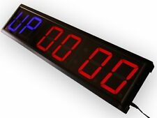 """EU Programmable GYM interval countdown countup and stopwatch 4"""" 6 digits"""