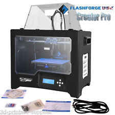 FlashForge USA 3D Printer Creator PRO Full Chamber Enclosure with ABS/PLA spools