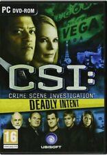 CSI DEADLY INTENT PC DVD-ROM GAME PEGI 16 HIDDEN OBJECT CRIME SCENE