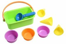 Ice Cream Bucket Sand Toy - Cones, cups and scoop.  Fun in Sandbox Play doh