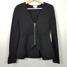 [ WITCHERY ] Womens Peplum Milano Black Zip Jacket  | Size XS or AU 8