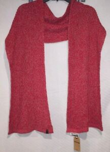 Men's True Religion True Red Two Tone Cable Knit Scarf One Size Style: ITR1985