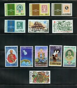 B003 Thailand 1981/2 stamps on stamps - Red Cross & others see scan MNH