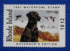 U.S. (RI03G) 1991 Rhode Island Governor Edition Duck Stamp (MNH)
