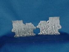 VINTAGE LEAD MOLDS 3 Indians 1 Indian Chief 3 Dimensional 2 inch height