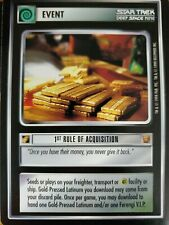 Star Trek CCG Rules of Acquisition Singles BASIC Select Choose Your Card