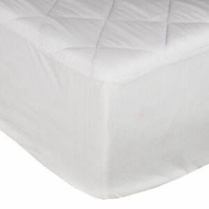 Quilted Mattress Topper Cover Protector Extra Deep Fitted Single Double King