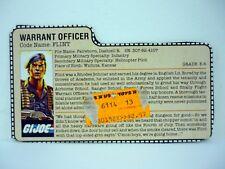 GI JOE FLINT FILE CARD Vintage Action Figure GREAT SHAPE 1985