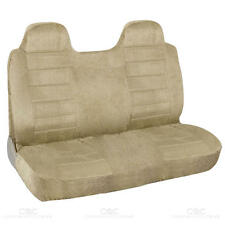Truck Front Bench Seat Cover Beige Regal Velour Fabric - Fitted
