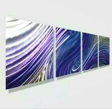 Metal Wall Art Modern Purple Silver Wall Sculpture Painting New Decor Jon Allen