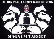 Varmit/Animal Silhouette Knockovers - 3/8in. Thk. Steel Pistol Shooting Targets