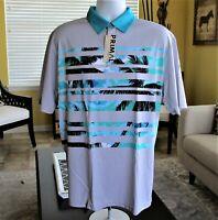 Primal Wear Men's Cutback Compass Polo Shirt, Activewear Short Sleeve Apparel