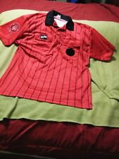 Men's Xl Official Us Soccer Federation Soccer Referee Red Jersey Shirt Near Mint