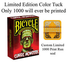 Classic Monsters Bicycle Deck Limited Ed Of Playing Cards By Uspcc Magic Tricks