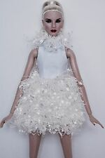 FASHION ROYALTY / EXQUISITE WHITE EMBELLISHED DRESS / FITS BARBIE / MINT