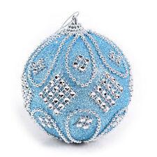 Christmas Rhinestone Glitter Baubles Balls Xmas Tree Ornament Decoration 8CMAA