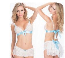 Sexy White Lingerie Women's Underwear Nightwear Lace Babydoll Dress Toys WA-05