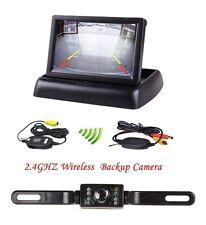 Wireless 4.3″ Folding LCD Monitor IR Night Vision Rearview Reverse Camera kit