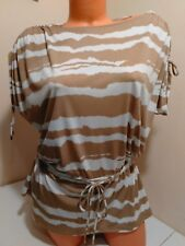 MICHAEL KORS Cinched Waist Gold Hardware Top XS