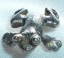 Vintage Silver Tone Metal Frog Tie Tack Pin In Gift Box