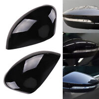 Gloss Black Wing Mirror Cover Cap Painted For Ford Fiesta MK7 2008-2017 Cover