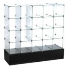 Glass Cube Display 4 H x 5 W Feet with Open Back