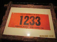 Antique 1936 Michigan resident DEER HUNTING LICENCE framed