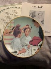 A New Look Collector Plate Knowles 1990 Vtg Norman Rockwell Coming of Age